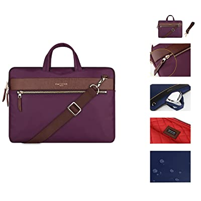 STONG Shoulder Bag for 13.3 Inch MacBook Air / MacBook Pro 12.9 Inch iPad Pro / Ultrabook With Shoulder Strap and 13.3 Inch Versatile Carrying Laptop Sleeve Case Purple