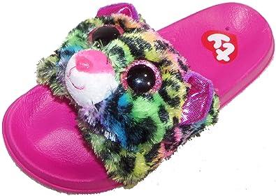 1668dbfdefb1 Ty Beanie Boo Beanie Boo Flip Flop for Girls Dotty Leopard Slider Shoe Slip  On (