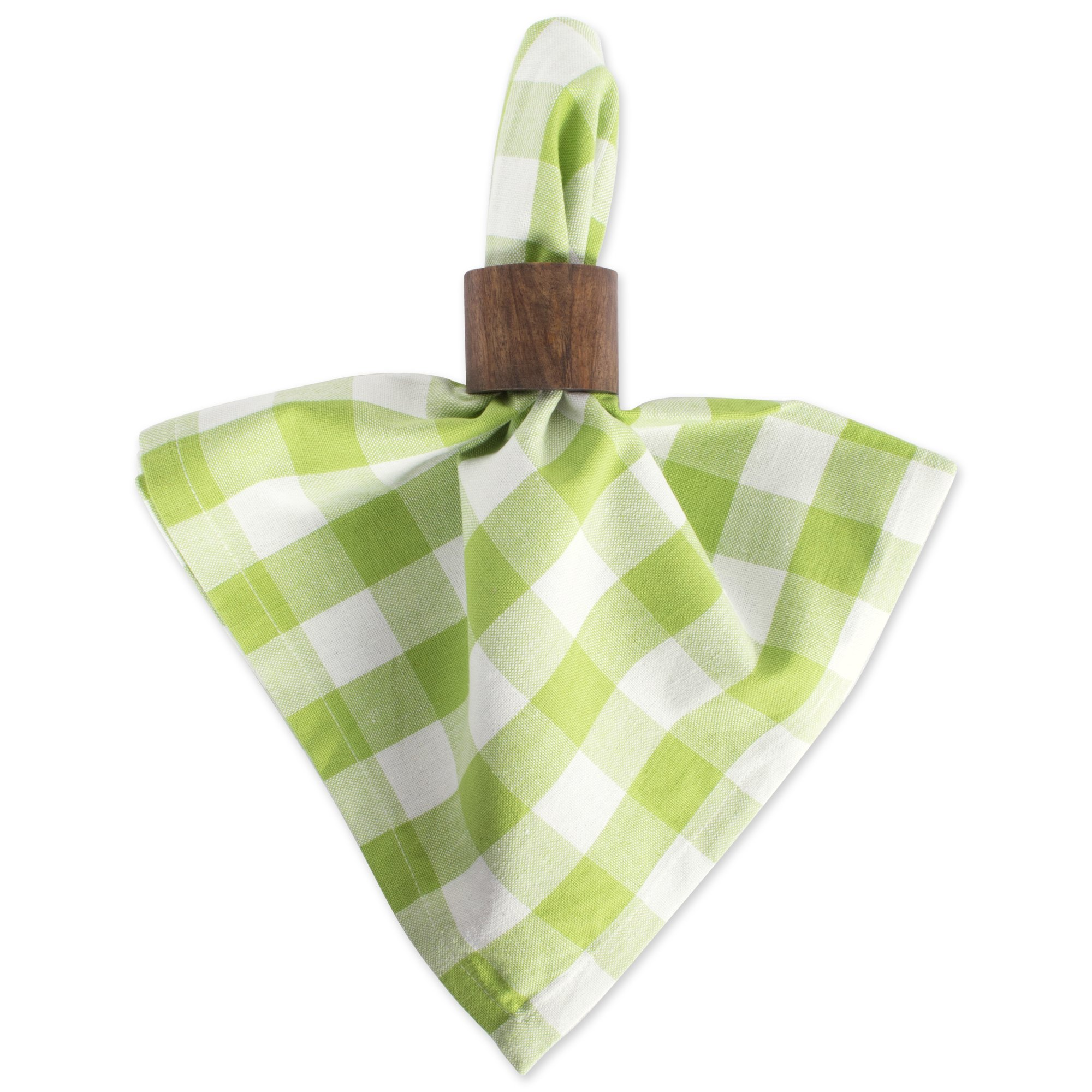 DII 100% Cotton, Oversized Basic Everyday 20x 20 Napkin, Set of 6, Green Apple Check by DII (Image #5)