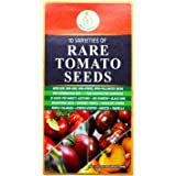 HEIRLOOM TOMATO SEEDS NON GMO - Includes Brandywine - Black Krim - Cherry Purple Etc. Indeterminate Up to Beefsteak Sizes - 10 Best Rare USA Grown Varieties of Fun Easy to Grow Mouthwatering Tomatoes