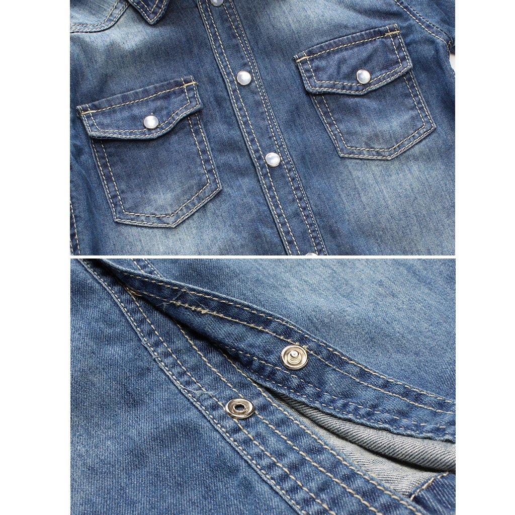 Baby Toddler Long Sleeve Denim Shirt Blue Jean Jacket Tops