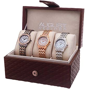 b09e0870fea9 Image Unavailable. Image not available for. Color  August Steiner Three  Watch Set for Ladies ...