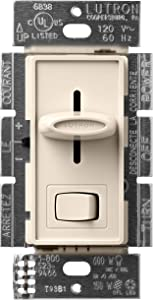 Lutron Skylark LED+ Dimmer Switch for Dimmable LED, Halogen and Incandescent Bulbs | Single-Pole or 3-Way | SCL-153P-LA | Light Almond