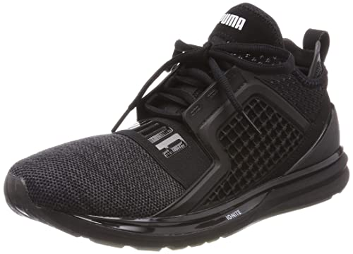 9381d7005bf Puma Men s Ignite Limitless Knit Black Silver Running Shoes-9.5 UK India (44
