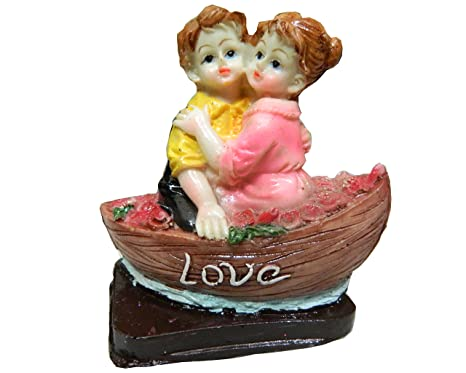 Touch India Romantic Couple On Boat Statue Home Decoration Gift Item Anniversary