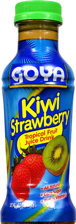 Amazon.com : Goya Foods Kiwi Strawberry Tropical Fruit Juice Drink, 12 Fluid Ounce (Pack of 24) : Grocery & Gourmet Food