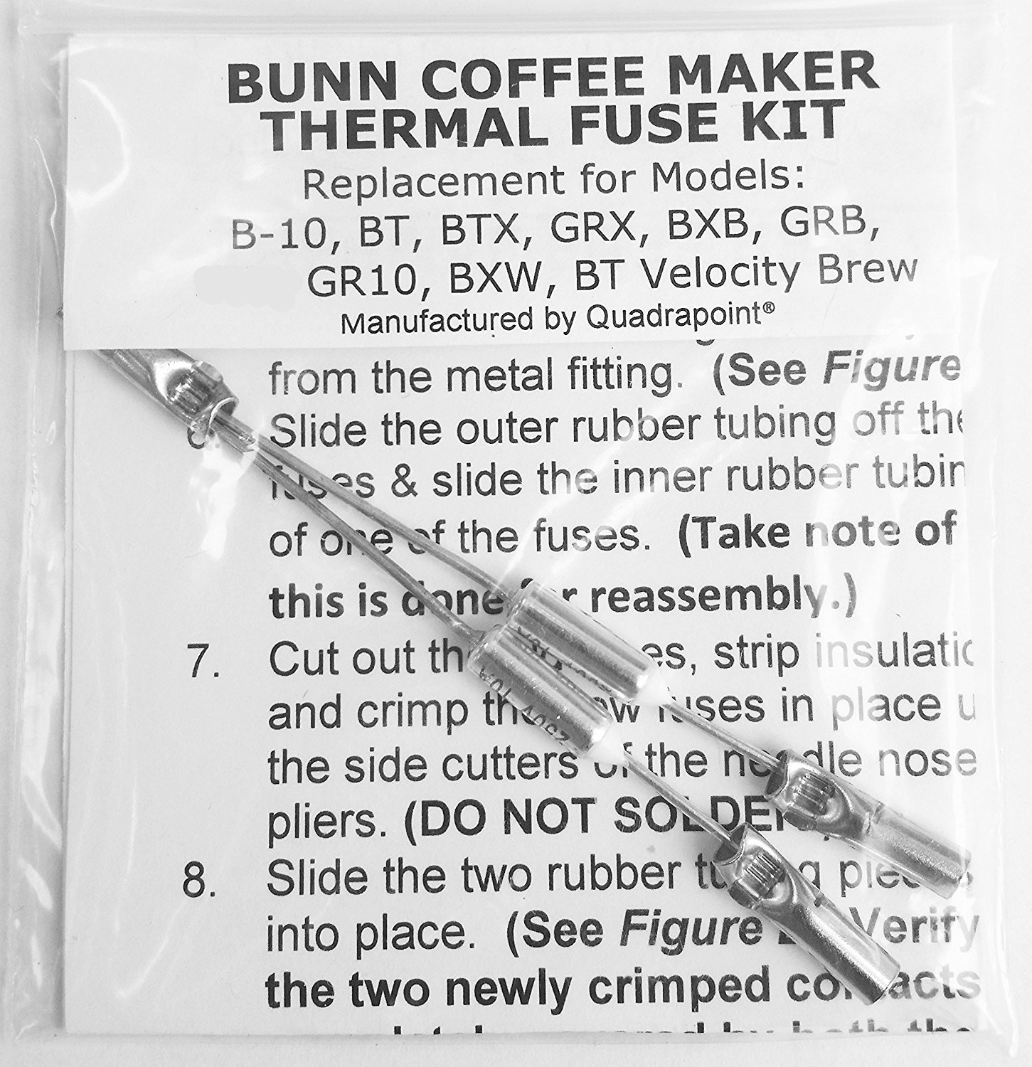 Amazon.com: Repair Your Bunn Coffee Maker, Water Not Heating? Thermal Fuse  Harness (B-10, GRX, BXB, BTX, GRB, BR10, BXW, BT Velocity Brew): Kitchen &  Dining