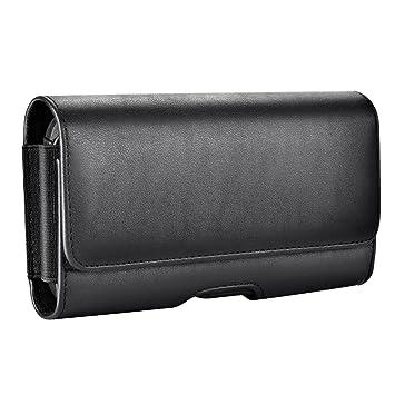 ca626eaa63e2 Mopaclle Galaxy S8 Ceinture Étui, Galaxy S9 Cuir de Protection Porte-Cartes  en Holster