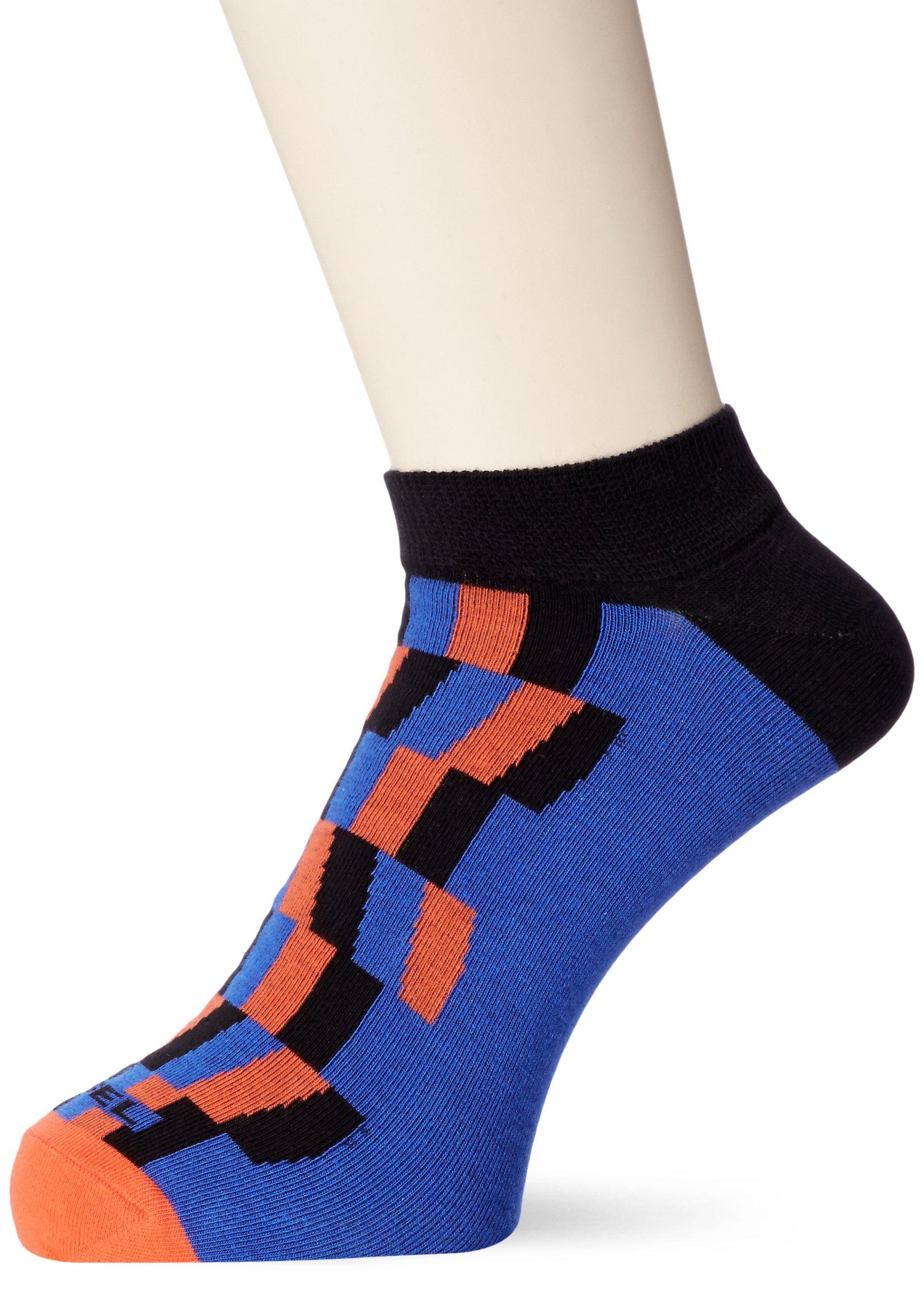 Diesel Men's SKM-GOST Geometric Ankle Sock-Low Cut, sea/blue L