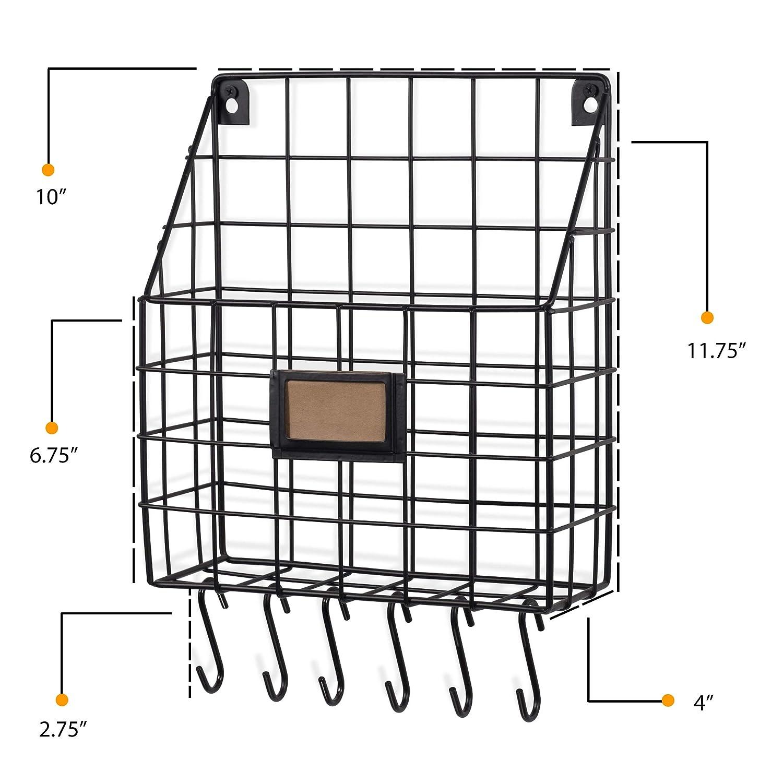 Amazon.com: WALL35 - Cesta de alambre multiusos con ganchos ...