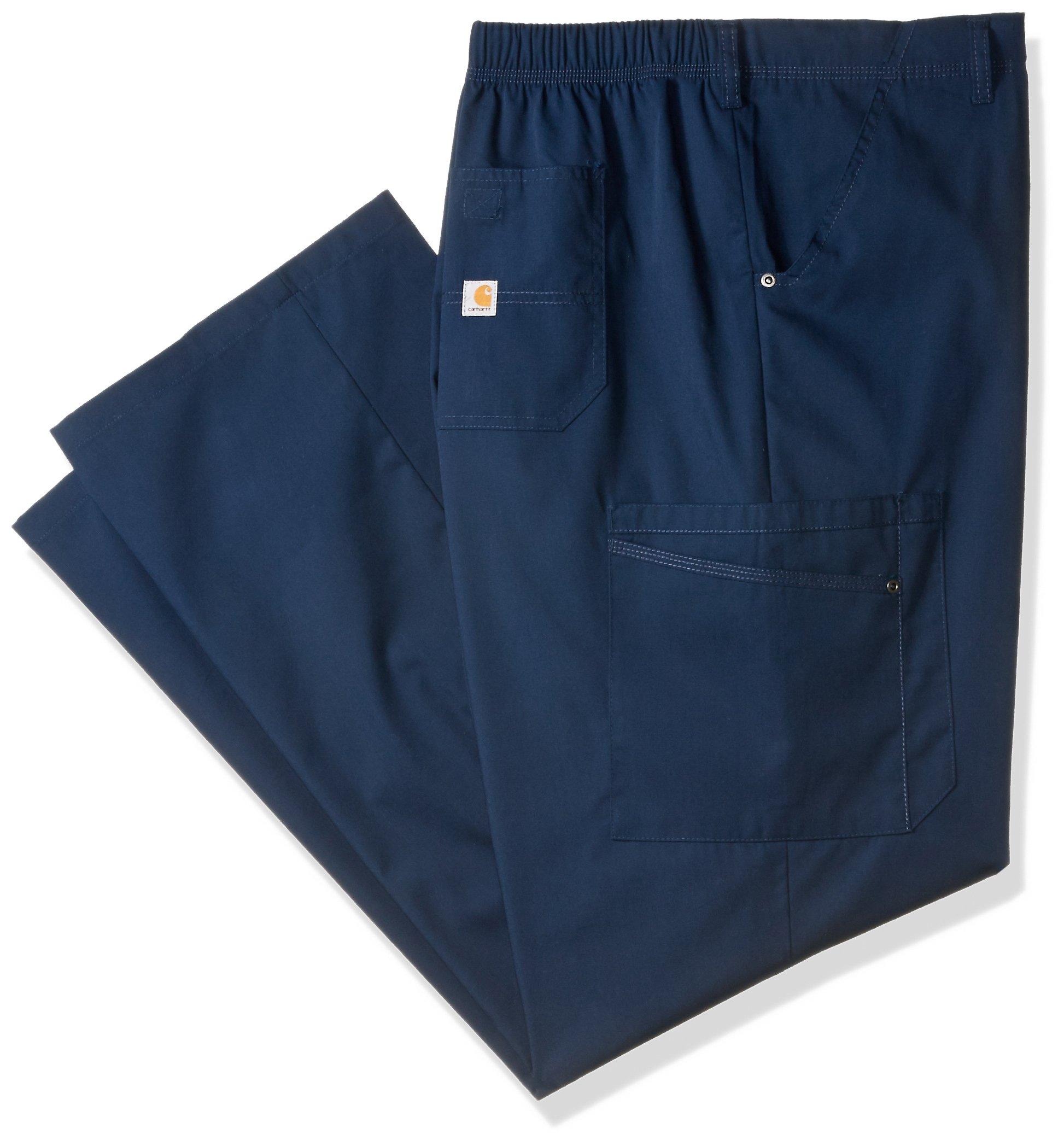 Carhartt Men's Rockwall Cargo Scrub Pant, Navy, X-Large