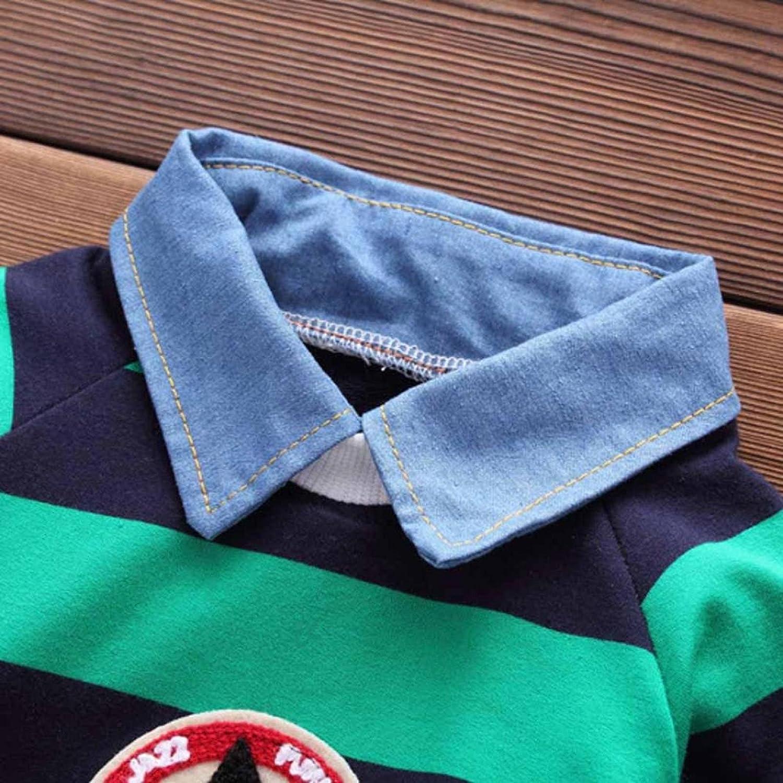 Juego de ropa de bebé, ppbuy Toddler niños rayas Pullovers camiseta Tops + Pants Trajes Set: Amazon.es: Oficina y papelería