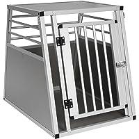 EUGAD Hundebox Autobox Hundetransportbox Transportbox Alubox Hund Reisebox Silber