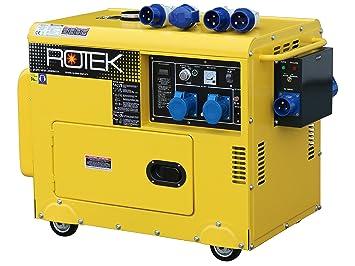 Super Rotek Diesel Stromerzeuger mit Notstart-Automatik GD4SS-1A-6000 @MX_68