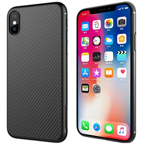 coque iphone xs fibre de carbone