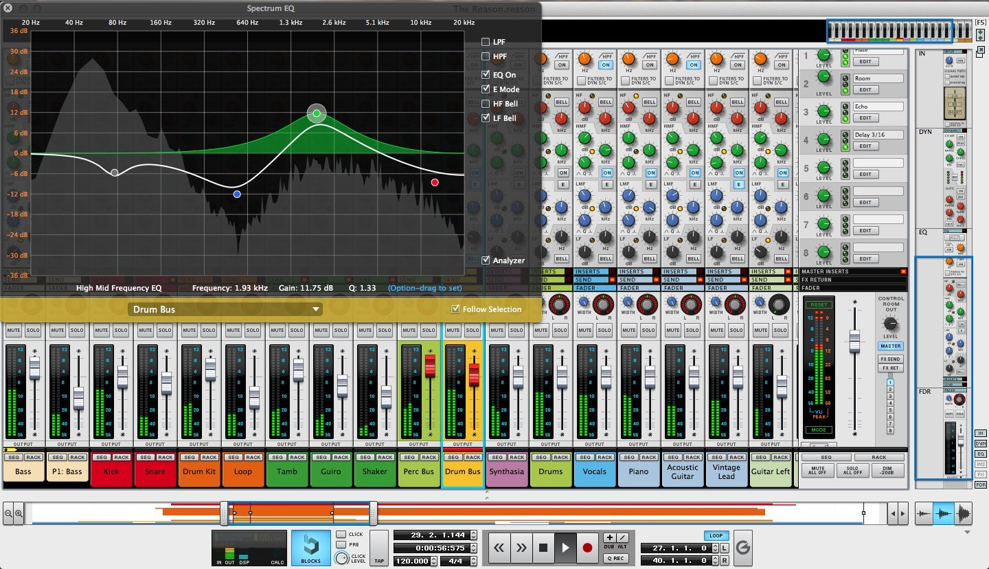 front facing propellerhead reason 7