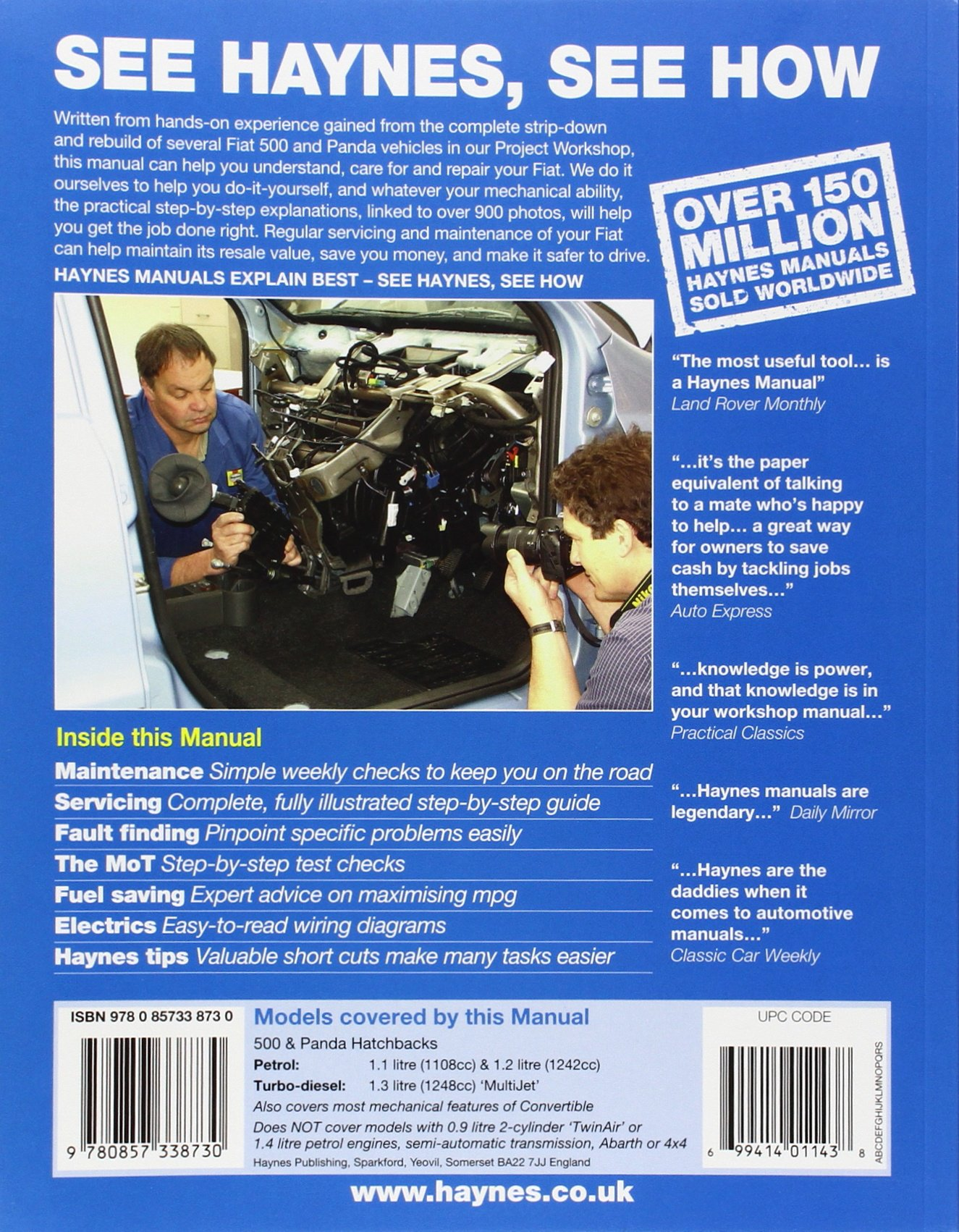 Fiat 500 & Panda Petrol & Diesel 04-12: Howard Hughes: 9780857338730: Amazon.com: Books