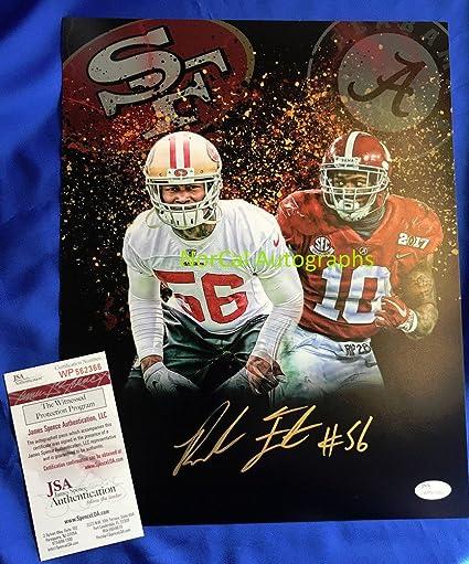 b60fc868ea5 Reuben Foster Hand Signed 11x14 Photo San Francisco 49ers Alabama - JSA  Authentic Autograph