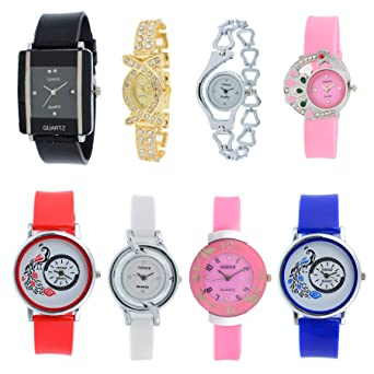 7fd5280e1ea Buy Codice Analogue Multicolor Dial Women s Watch - Codice-Combo-08-Girls- Watch-Jewelex Online at Low Prices in India - Amazon.in