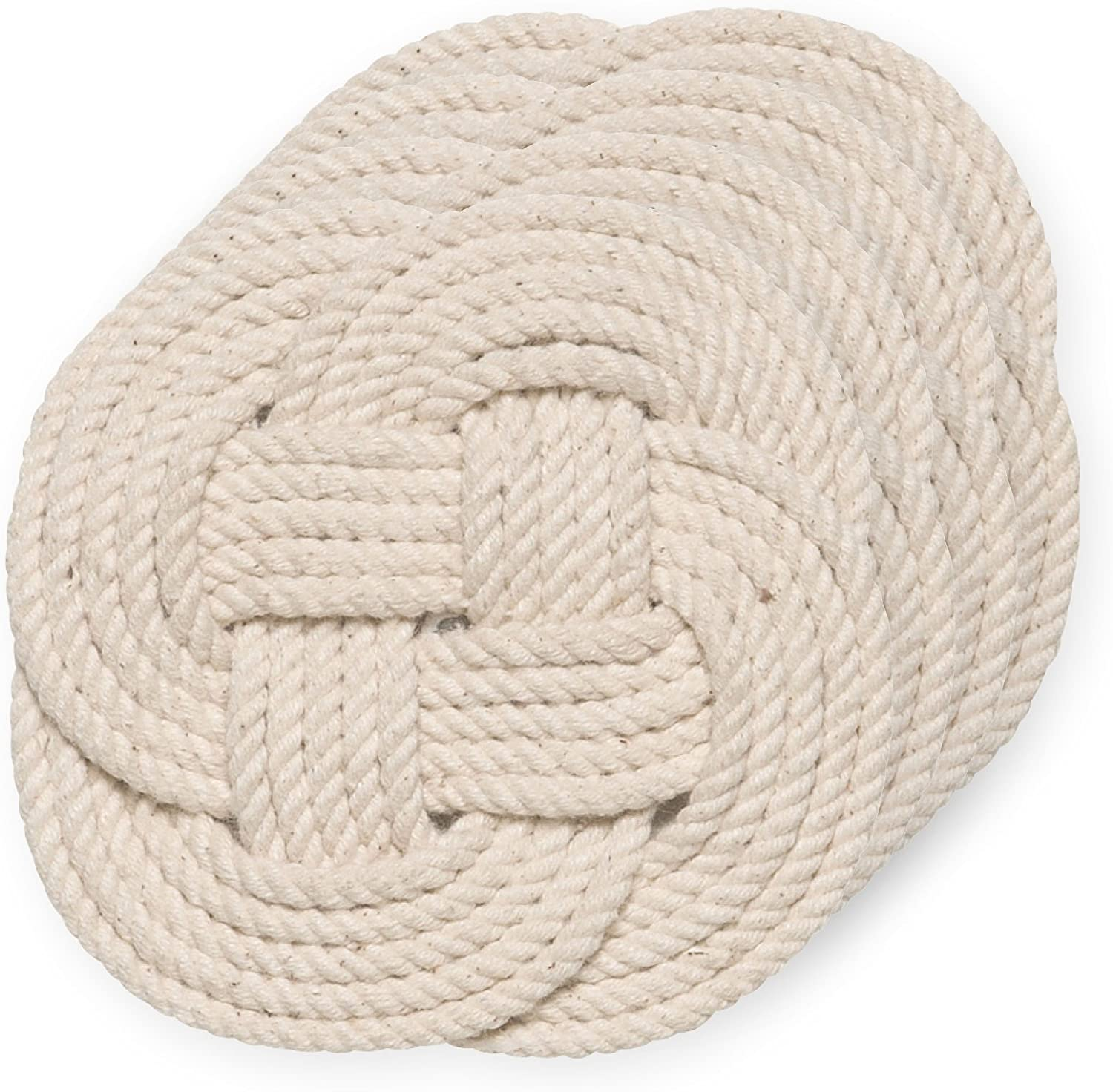 Crocheted Nautical Rope Coaster, Set of Four