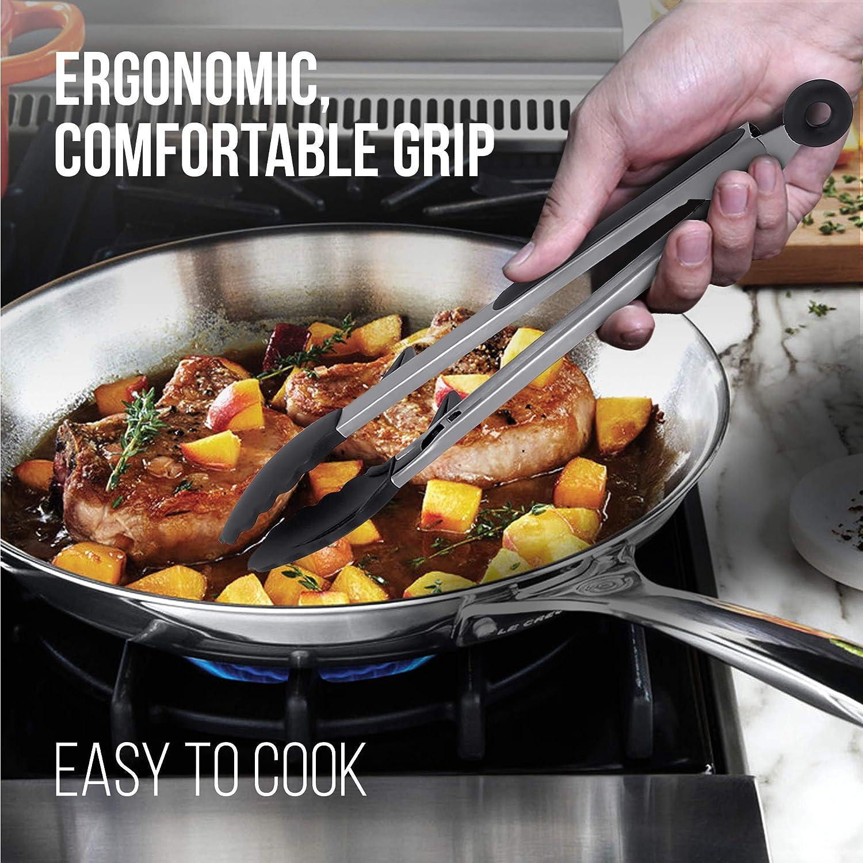 Pinzas de cocina Olivers Kitchen de silicona apta para alimentos clip de bloqueo para f/ácil almacenamiento ideal para cocinar barbacoas