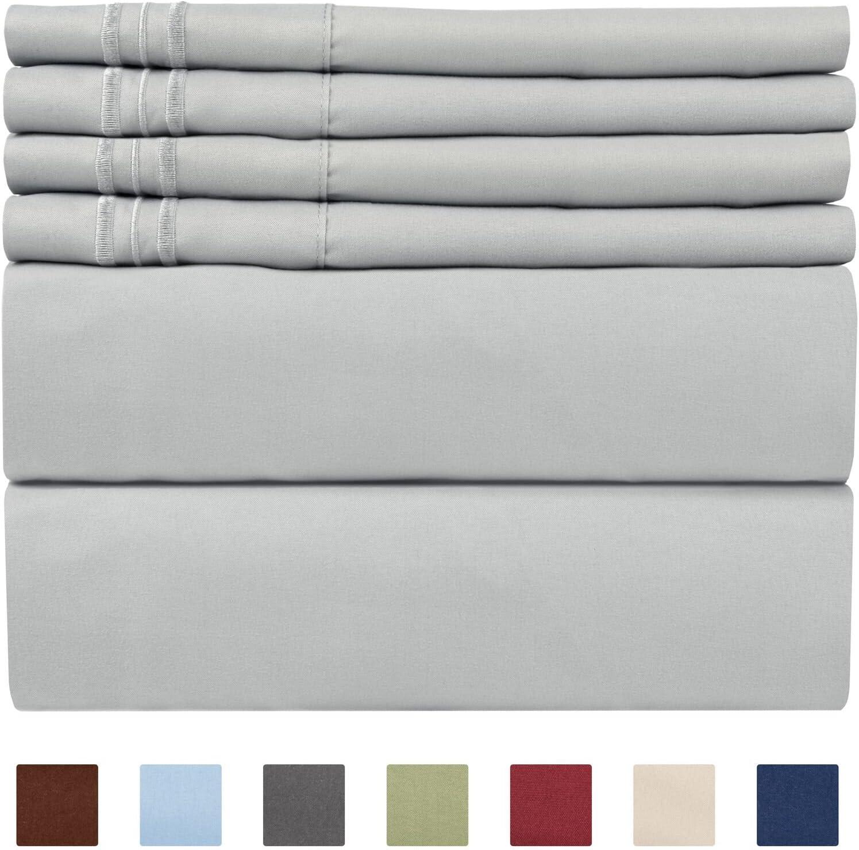 Extra Deep Pocket Sheets - Deep Pocket King Size Sheets - Extra Deep Bed Sheets - Deep King Fitted Sheet Set - Super and Ultra Deep Sheets - Deep Pocket Sheets fit 18 Inch to 24 Inches Deep Bed Sheets