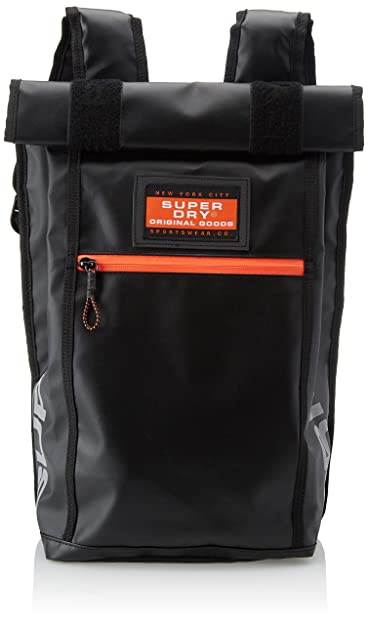 Superdry Sd Rollman, Mens Backpack, Black (Nero), 34x45x14 cm (W