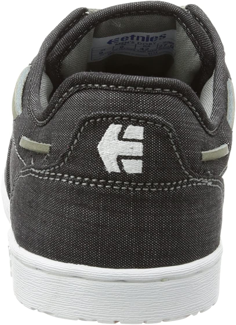 Etnies Men's Dory Skateboarding Shoe Black/Grey/White