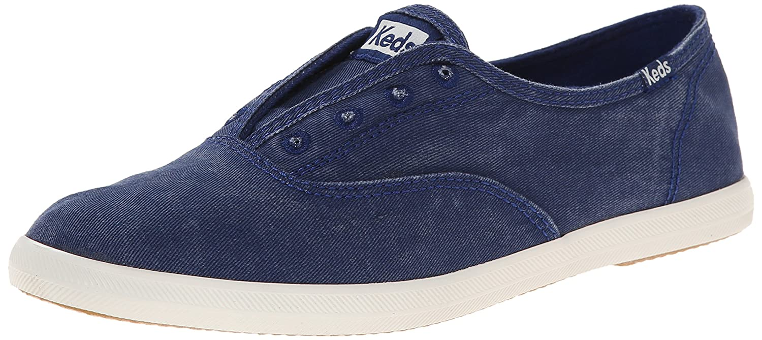 Keds Women's Chillax Washed Laceless Slip-On Sneaker B00MC3SLOK 10 B(M) US|Navy