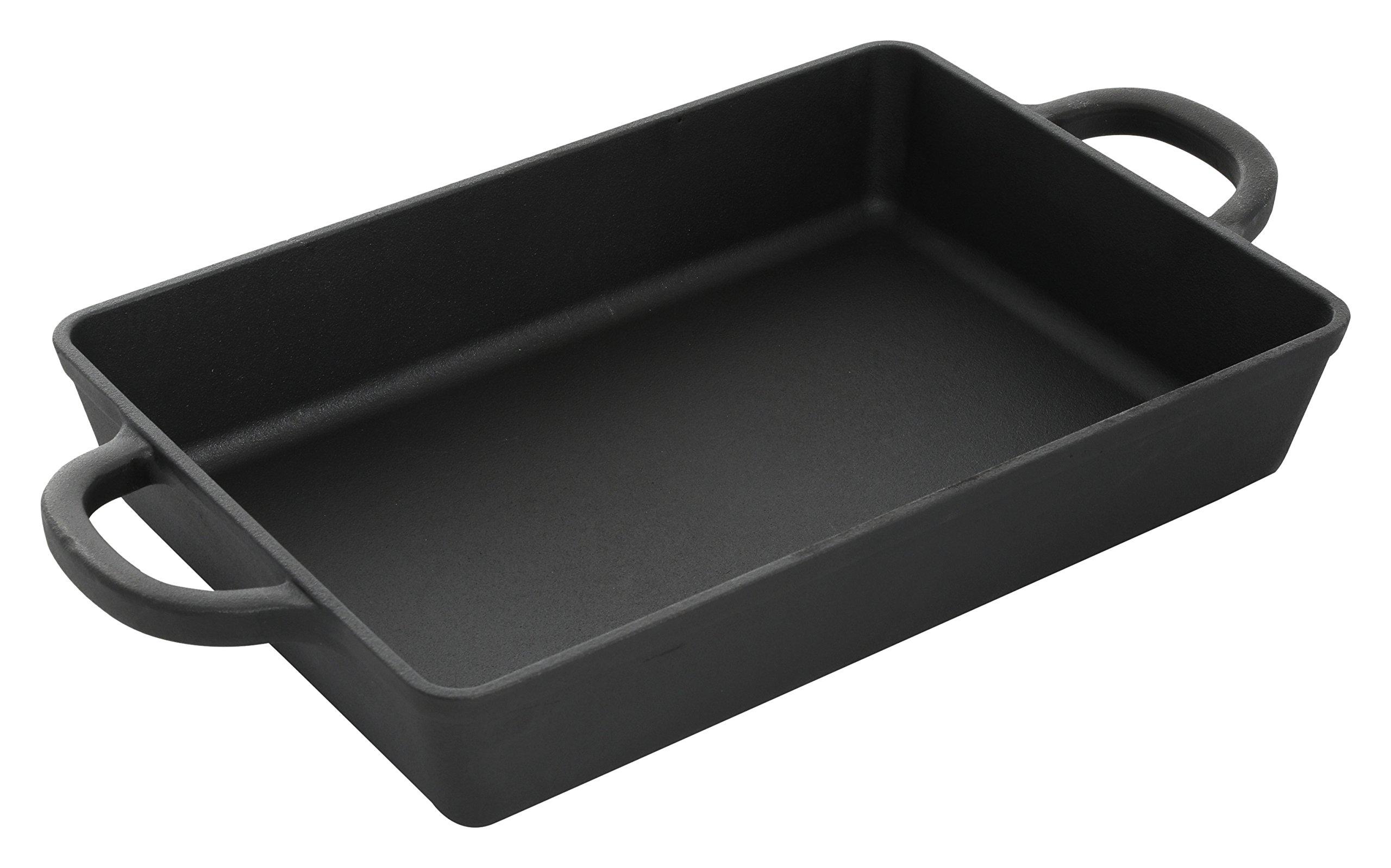 Crock Pot 112010.01 Artisan 13 Inch Preseasoned Cast Iron Rectangular Lasagna Pan