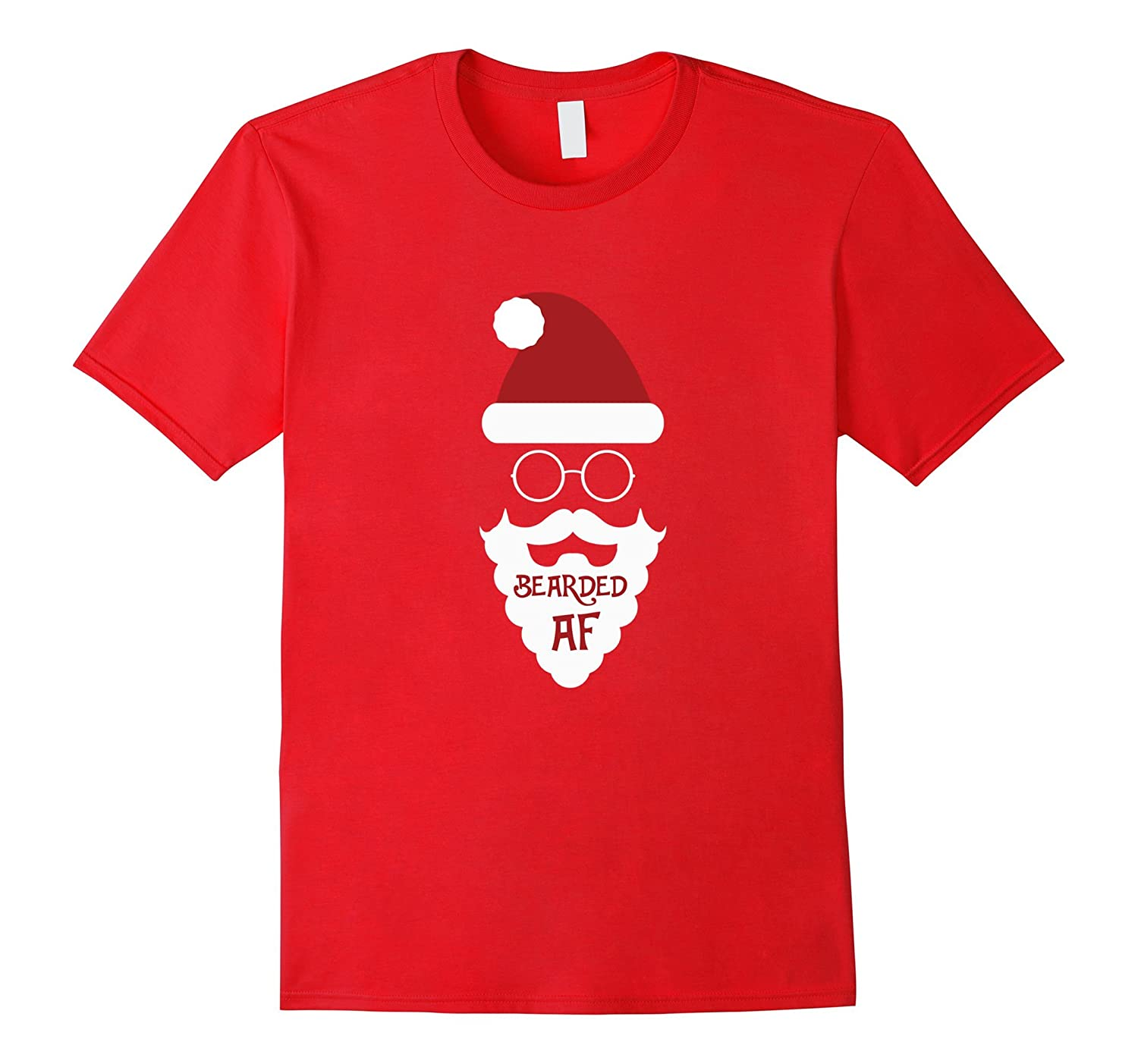 Christmas Santa Clause Beard T Shirt - Bearded AF-FL