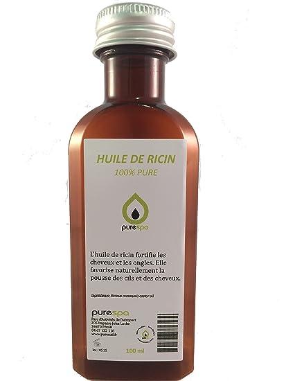 Aceite vegetal de RICINO prensado en frio 100 % puro, 100 ml