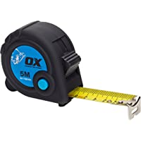 OX Measuring Tape - Trade Series Metric Tape -  Heavy Duty Nylon Coated Measurement Tape - Black/Blue - 5 m