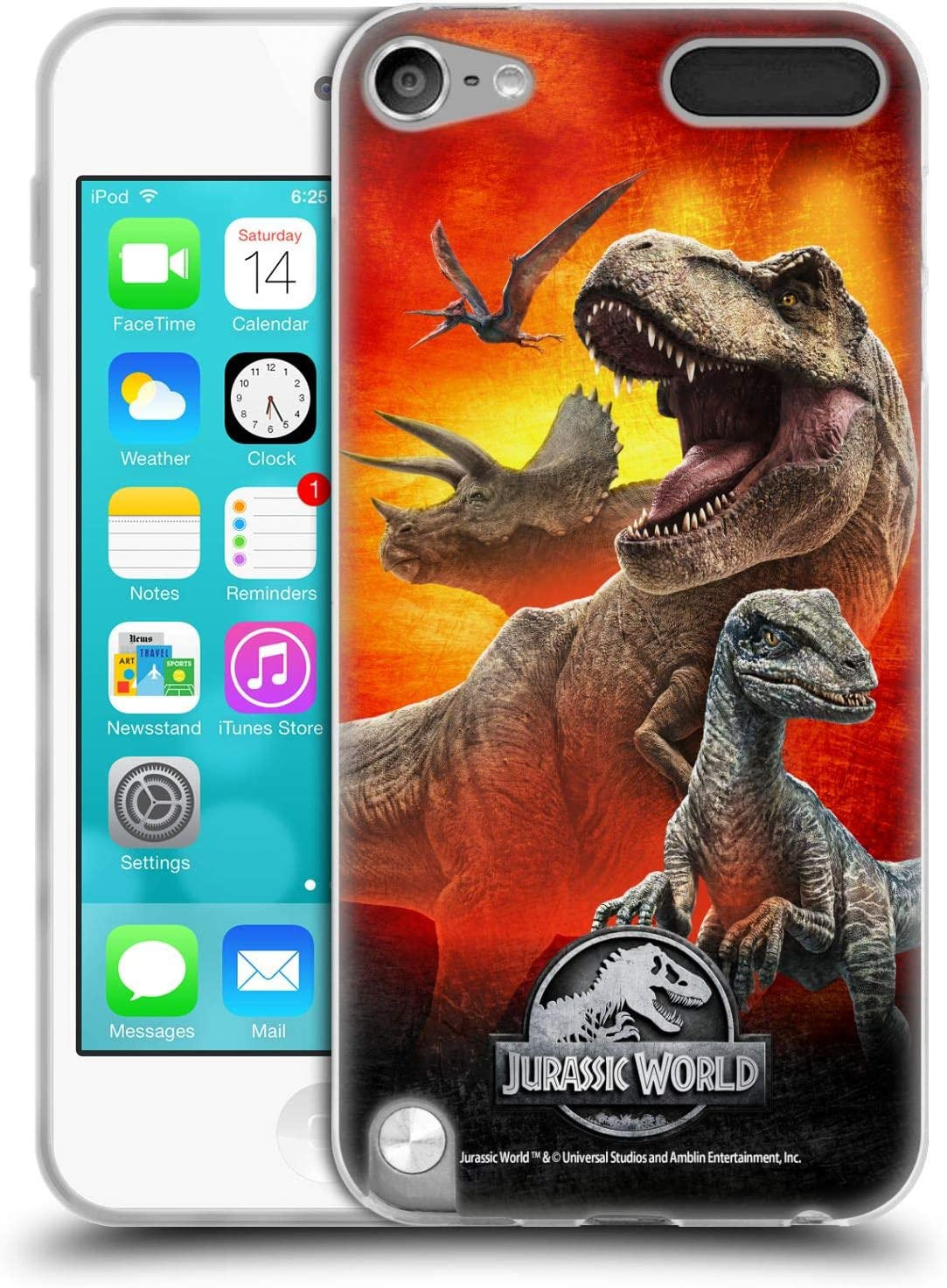 Head Case Designs Officially Licensed Jurassic World Dinosaurs Key Art Soft Gel Case Compatible with Apple iPod Touch 5G 5th Gen