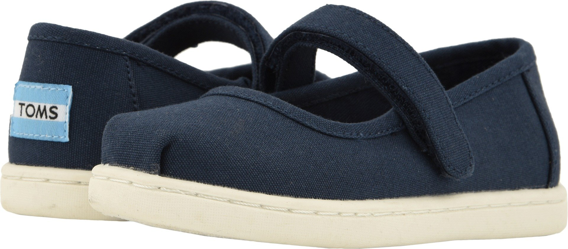 TOMS Kids Baby Girl's Mary Jane (Infant/Toddler/Little Kid) Navy Canvas 10 M US Toddler