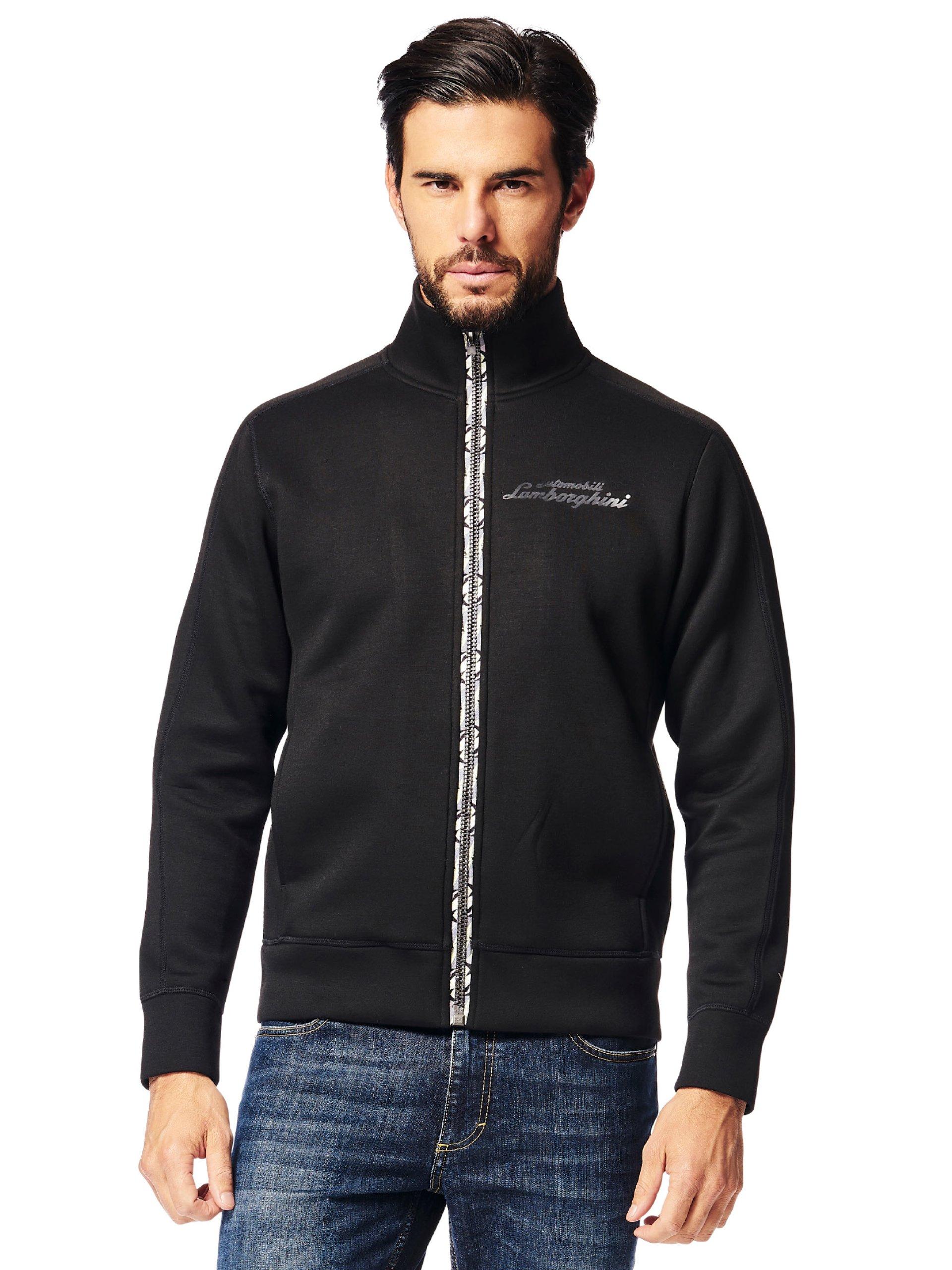 Automobili Lamborghini Men's Pilota Ufficiale Zip-up Sweatshirt 9099 S Black