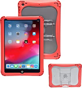 Brenthaven Edge 360 Case for Apple iPad 9.7 5th and 6th Gen - Red, Impact Absorbing and Deflecting Tablet Case with Adjustable 2-Stage Stand and Integrated Screen Protector for 360 Degrees Protection