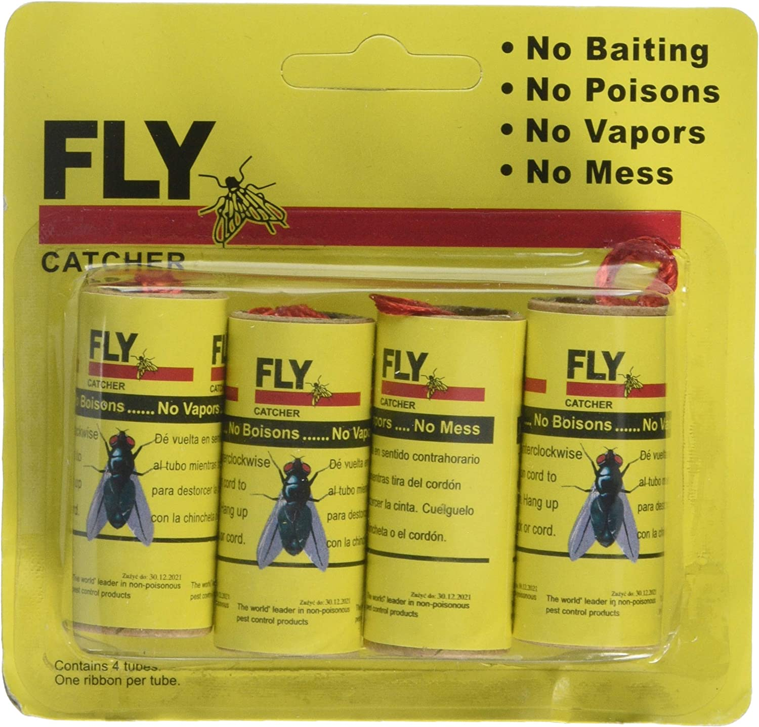 Igemy 16 Rolls Sticky Fly Paper Fly Catcher Insect Fly Trap