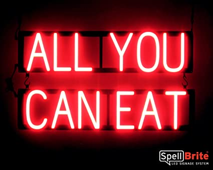 Amazon com : SpellBrite Ultra-Bright ALL YOU CAN EAT Sign