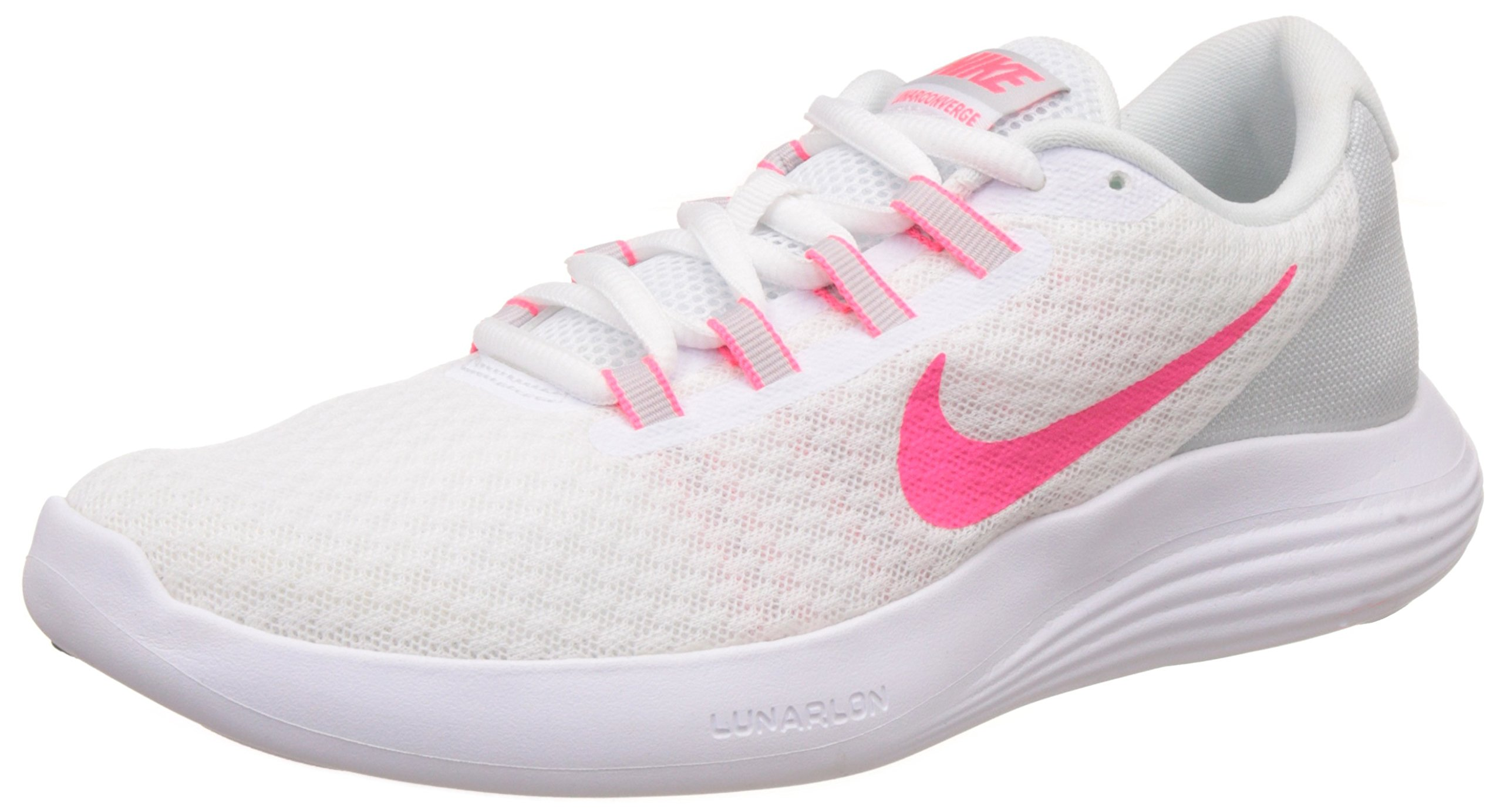 be0b02a9622 Galleon - NIKE Women s Lunarconverge White Racer Pink - Pure Platinum  Ankle-High Running Shoe 6.5M