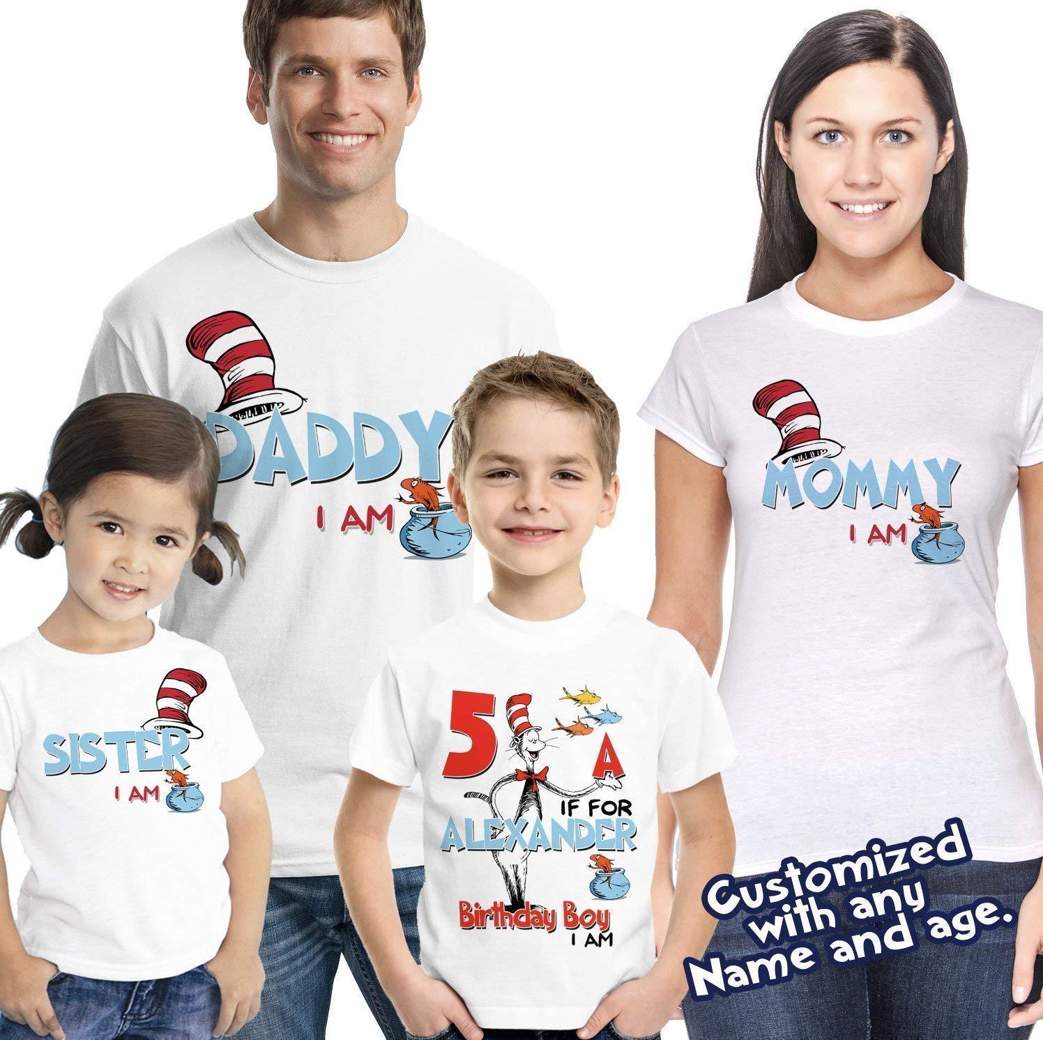 Amazon Dr Seuss Birthday Shirt Thing Party FAMILY Matching Shirts