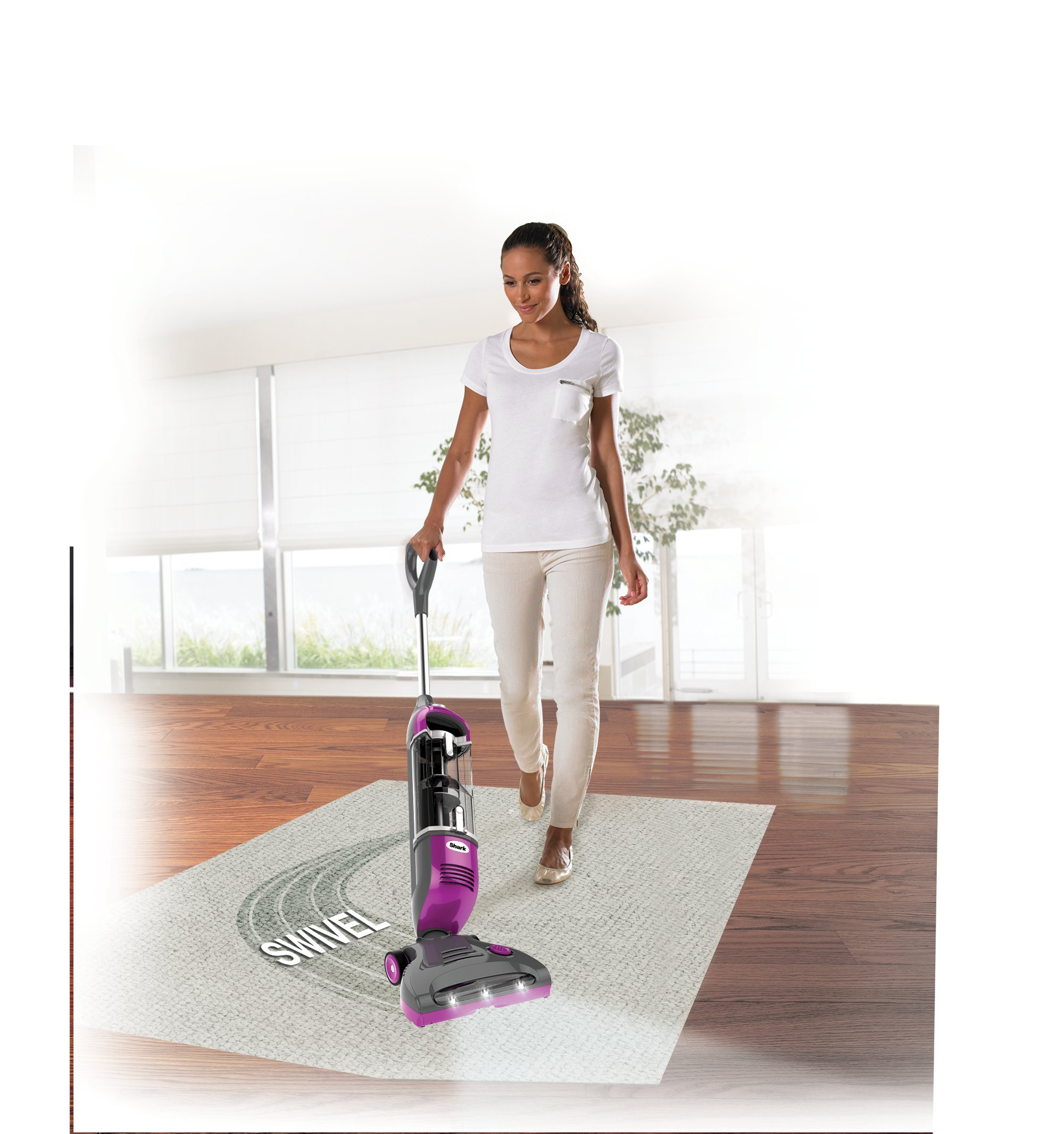 Shark Rotator Freestyle Stick Cordless Vacuum for Carpet, Hard Floor and Pet Hair Pickup with XL Dust Cup and 2-Speed Brushroll (SV1112), Fuchsia by SharkNinja (Image #3)