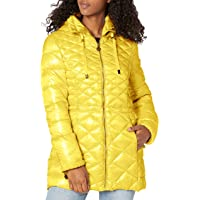 HD fashion US Stock New Women Quilted Puffer Light Weight Light Blue Jacket Coat M