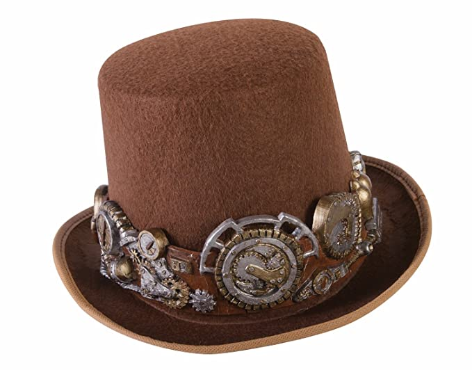 Amazon.com  Forum Women s Steampunk Top Hat with Deluxe Band 4f952df2a47