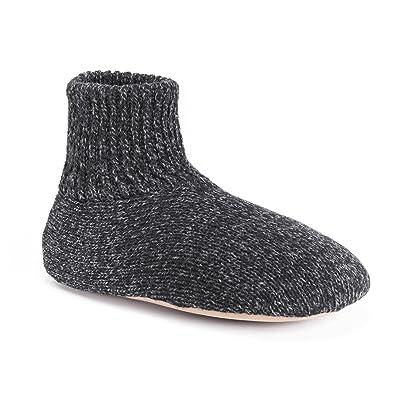 MUK LUKS Men's Morty Ragg Wool Slipper Sock   Slippers