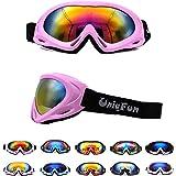 キッズ 子供用 スキーゴーグル ゴーグル スノーボード スキー ミラーレンズ 10色選べる UVカット 男の子 女の子