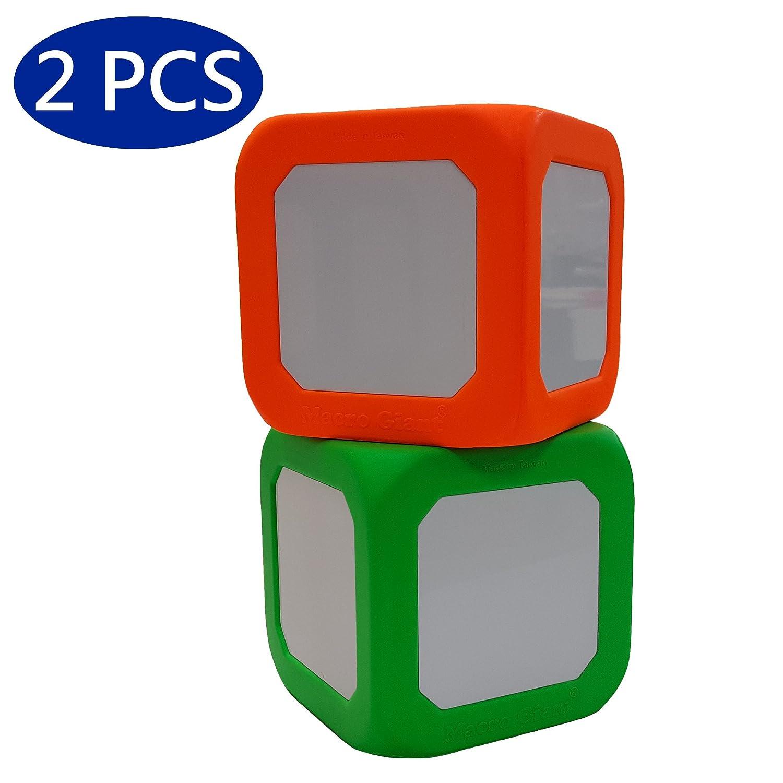 Playing Dice Neon Orange /& Neon Green Math Teaching Macro Giant 5 Inch Foam Dry Erase Block Teaching Learning Aid Tool Kid Toy Set of 2
