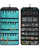 Amazoncom WODISON PU Leather Travel Hanging Jewelry Organizer Roll