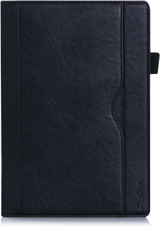"""ProCase Lenovo Tab 2 A10 / Lenovo TAB-X103F Tab 10 Case - Leather Stand Folio Case Cover for Lenovo Tab2 A10-70 / Tab2 A10-30 / Tab 3 10 Plus/Tab 3 10 Business / TB3-X70 Tab 10 10.1"""" Tablet -Black"""