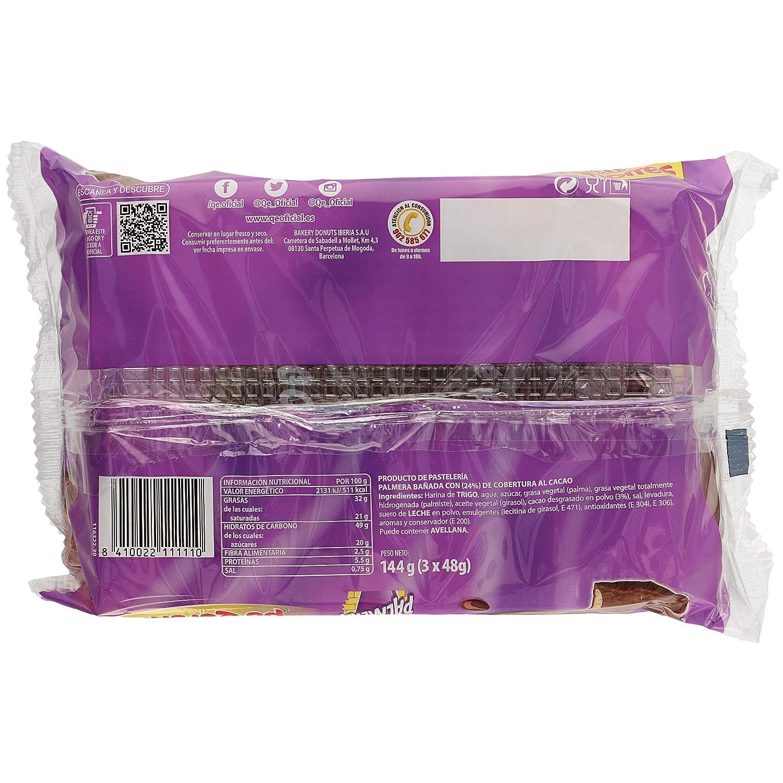 Qe! Palmera de Chocolate - 3 unidades - 144 g: Amazon.es ...